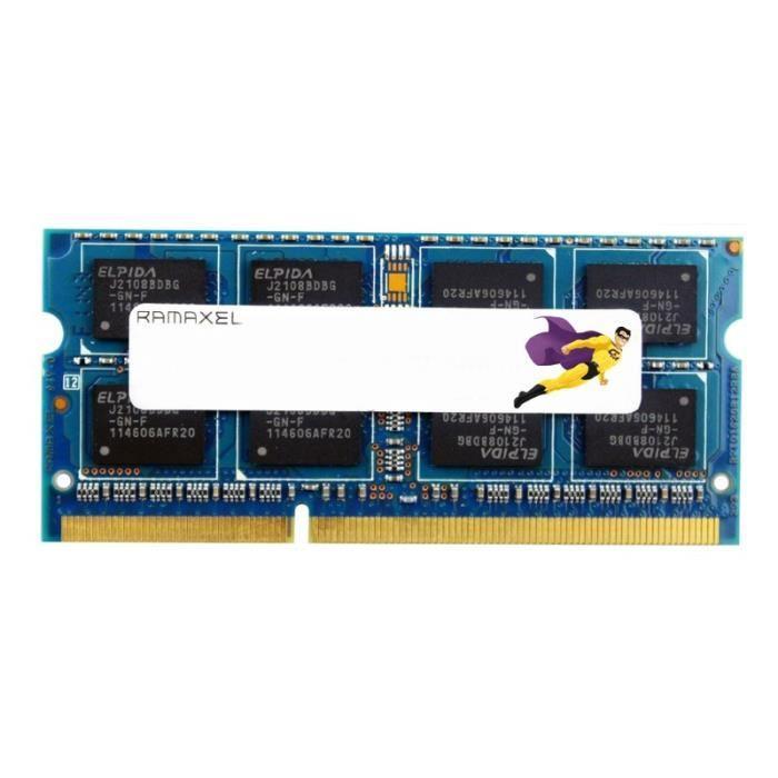 4Go RAM PC Portable SODIMM Ramaxel RMT3020ED58E9W DDR3 2Rx8 PC3 12800S