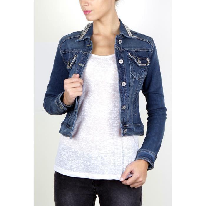 Veste en jean à chaînes Achat / Vente veste