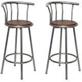 bar cuisine design Louisiane acier & MDF bois hauteur d'assise 75 cm
