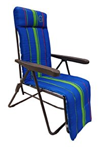 Beach C006 Chaise longue pliante 5 positions Bleu: Sports