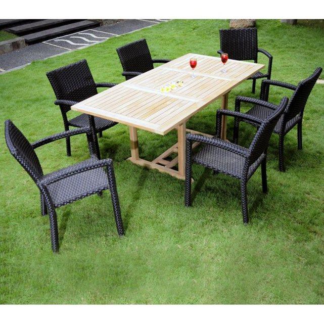 Meubles, déco Jardin Salon de jardin Ensemble table, chaise de jardin