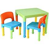 Liberty House Toys Ensemble table et 2 chaises pour enfants, en