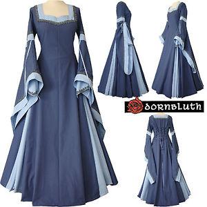 Moyen age robe robe Guinevere Indigo Bleu clair xs s m l xl