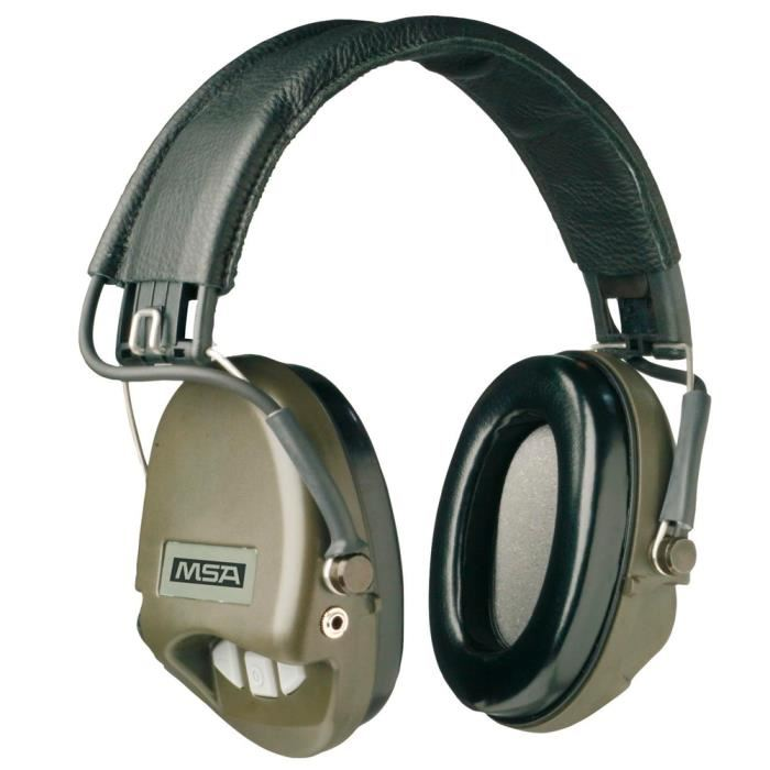 Casque MSA anti bruit Supreme Basic vert OD Achat / Vente casque