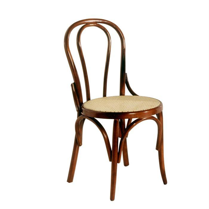 Chaise bistrot Lenin en bois hêtre noyer Achat / Vente chaise