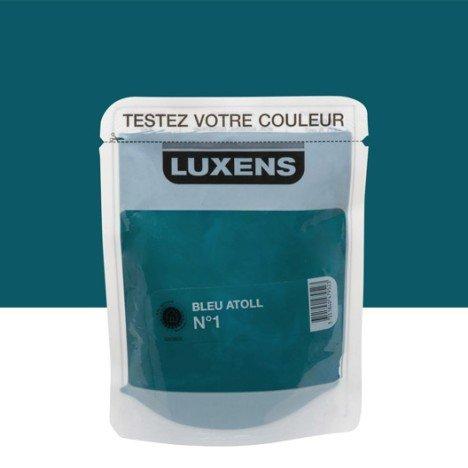Testeur peinture bleu atoll 1 LUXENS Couleurs intérieures satin 0.05