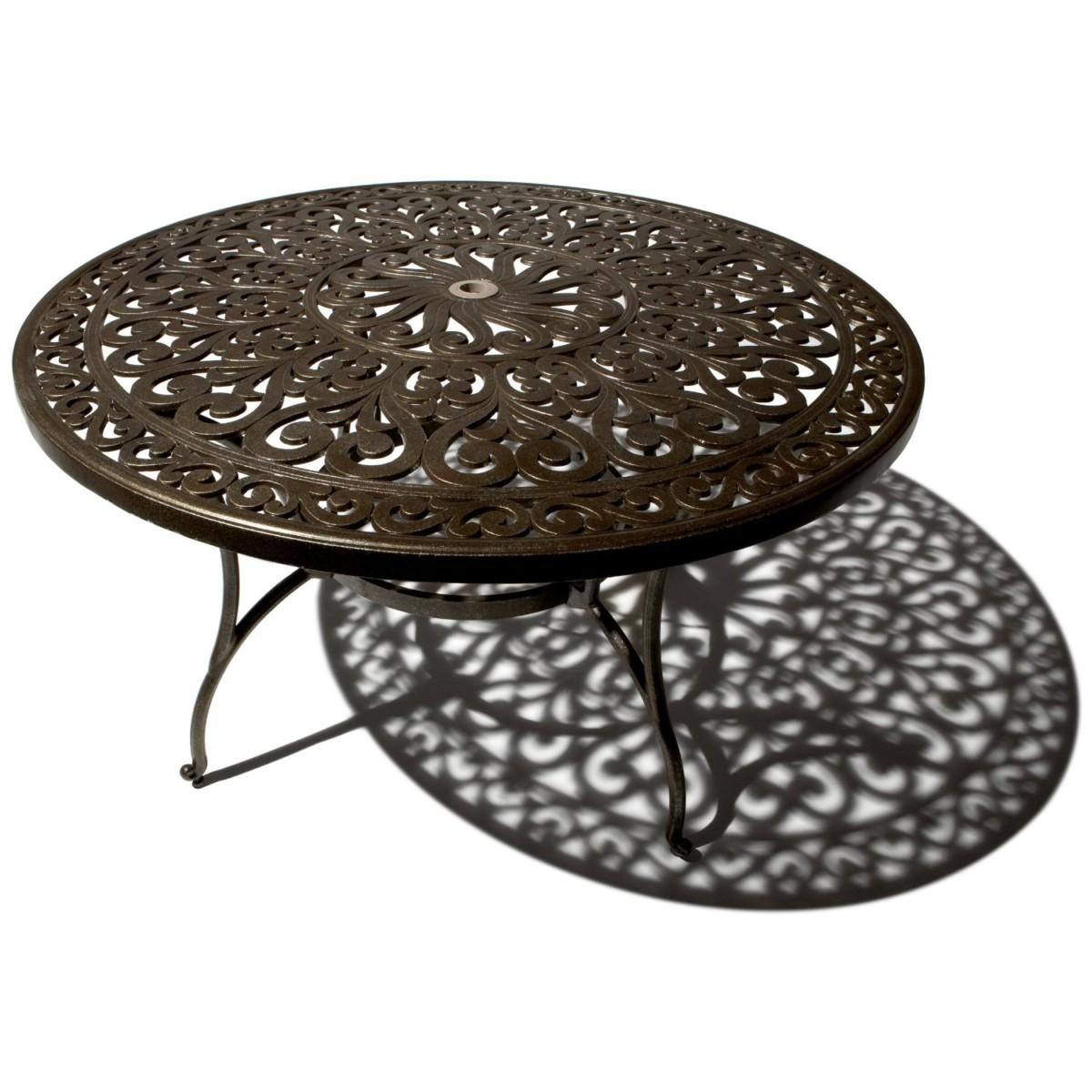 Thomas Table de jardin ronde en fonte d'aluminium: Jardin