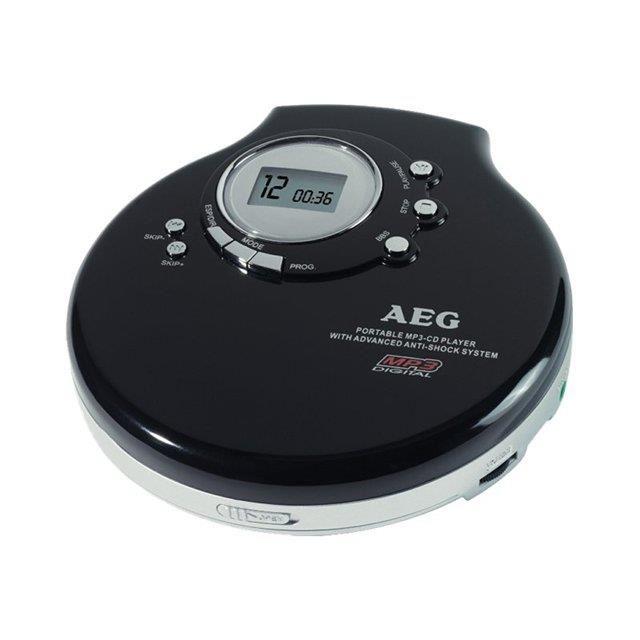 Lecteur CD portable AEG noir CDP 4212 MP Lecteur CD portable AEG