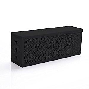 Enceinte Bluetooth rectangulaire noire ultra design: High