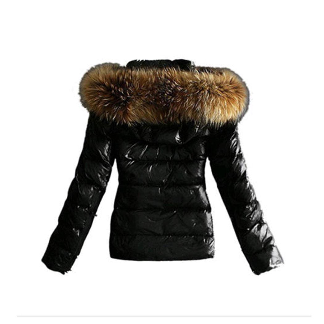 Veste cuir femme col fourrure amovible