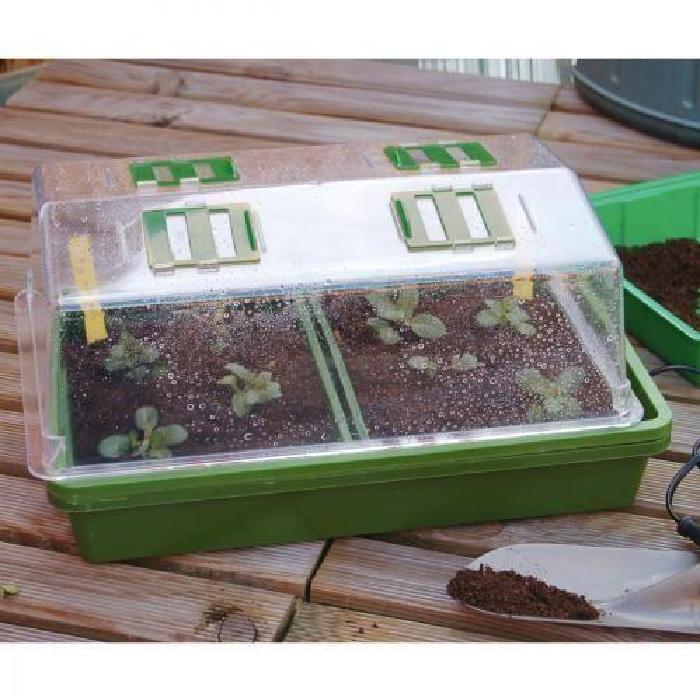 Mini Serre chauffante 39 x 25 x 20 cm Heating Grow Mini Serre