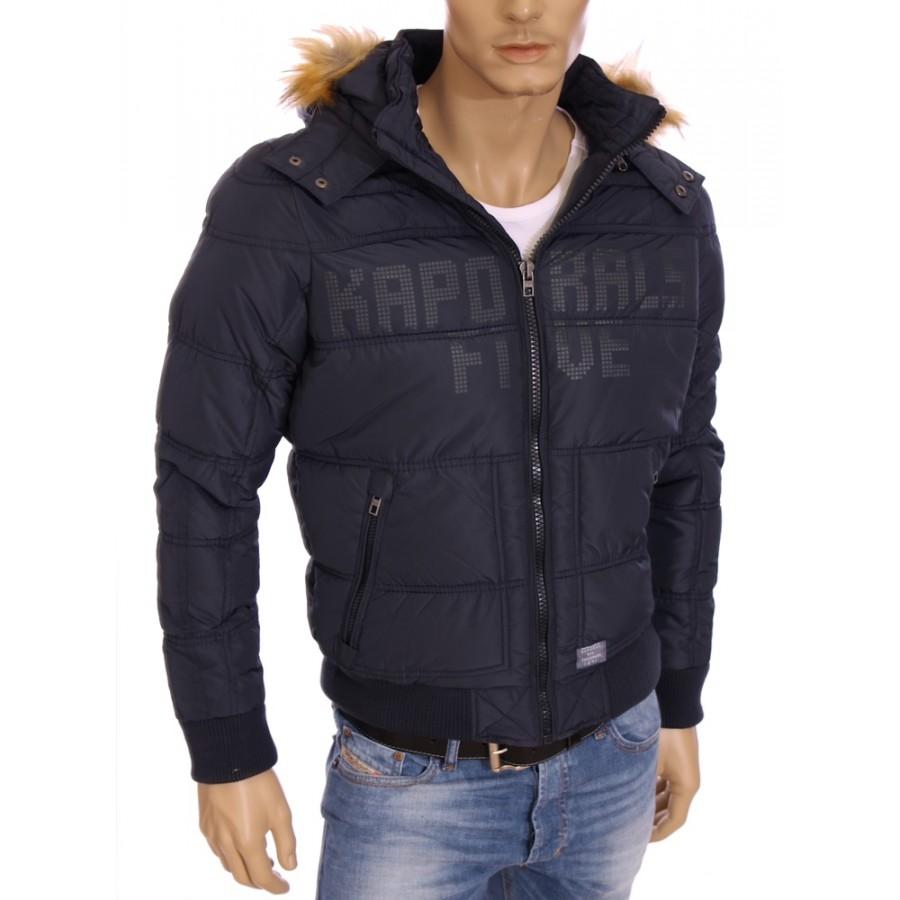 Homme Blouson doudoune à capuche Notus bleu marine hiver 2016