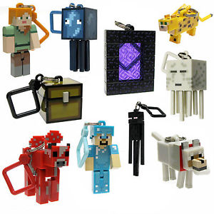 Série 2 Minecraft 3D Porte clés Ceinture Sac Cintres Mine Artisanat