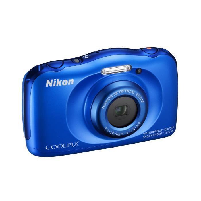 NIKON COOLPIX S33 Bleu Appareil photo numérique Compact Achat