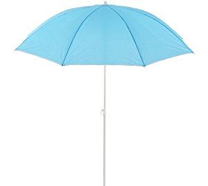 Parasol de plage inclinable rond 1m80 Bleu: Jardin