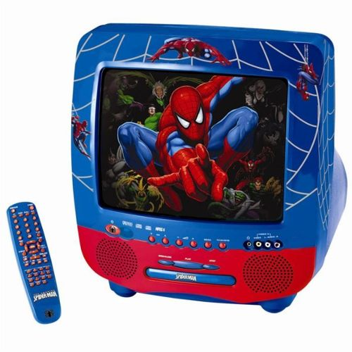Combiné tv lecteur dvd intégré SPIDERMAN 36 cm avec telecommande