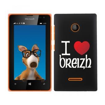 Coque pour Nokia Lumia 435/532 impression Motif coeur rouge I Love