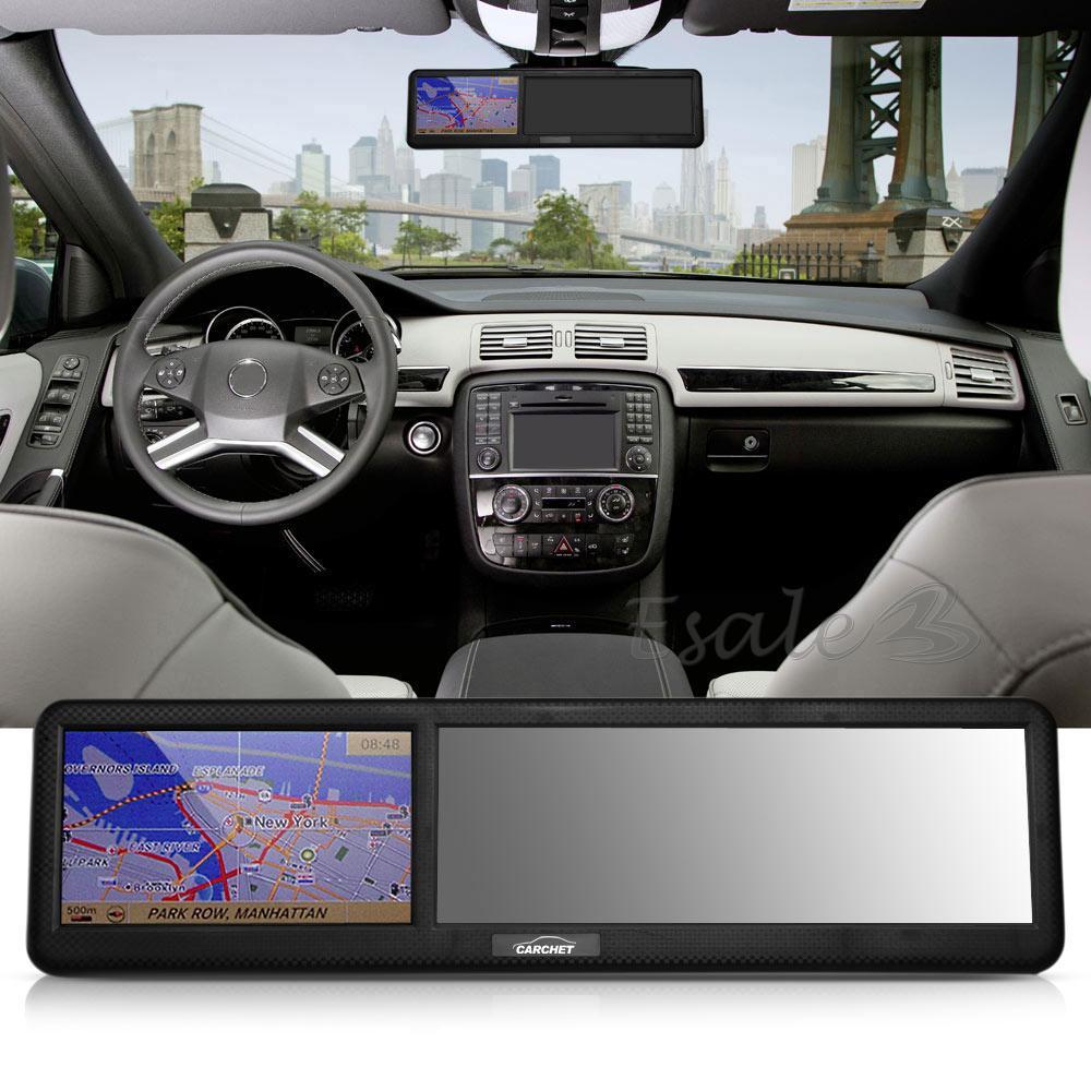 Rétroviseur Miroir GPS Navigation NAV Europe 8G 128Mo Bluetooth
