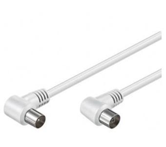 Câble d'antenne coudé M/F 75 ohm couleur Blanc 10 m Achat & prix