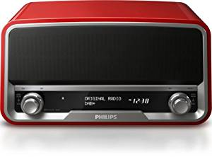 Philips Enceinte Bluetooth avec Radio DAB+ Rouge: High tech
