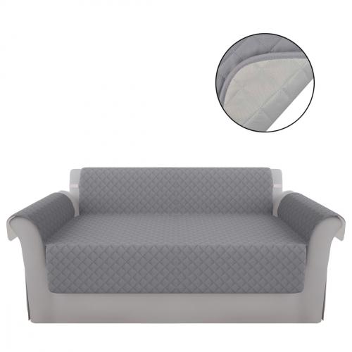 Protège canapé Protection couverture de canapé Gris Gris clair