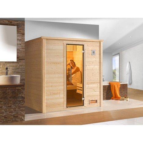 Sauna traditionnel 2 places, modèle Bergen 1 OS Excl WEKA