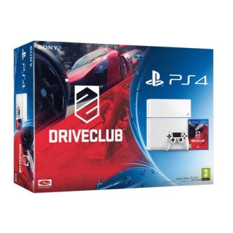 Console PS4 500 Go Blanche + DriveClub Console Playstation 4 Sony