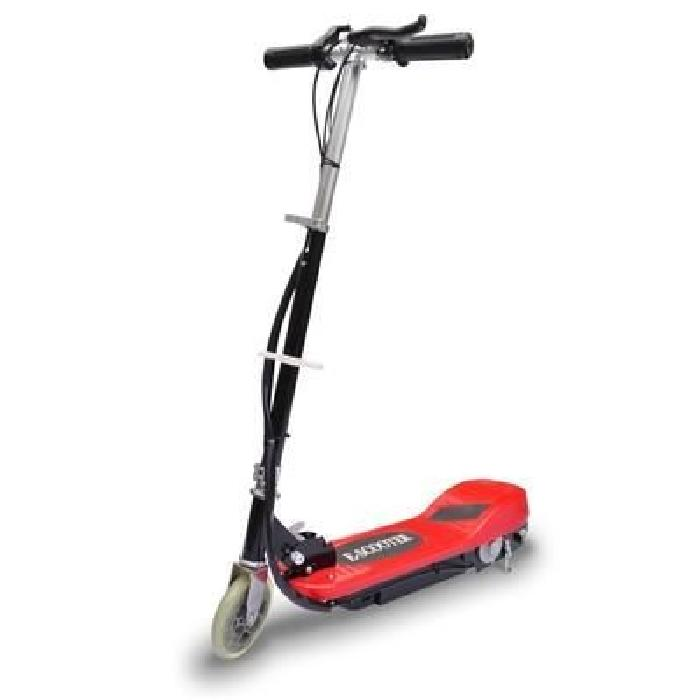 Trottinette électrique E scooter rouge et noire 120W Trottinette