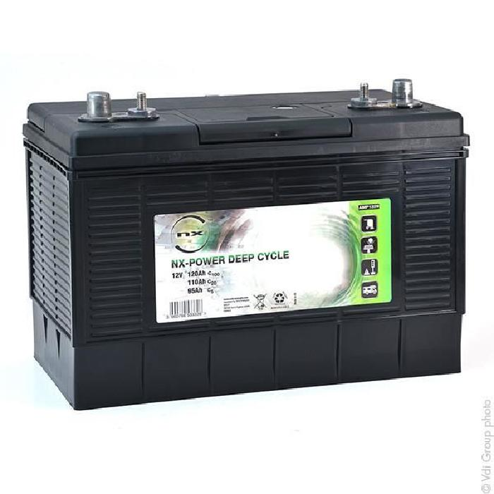 Batterie plomb ouvert NX Power Deep Cycle 12V 120Ah C100 Batterie(s