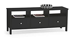 Steens Group 1857120049000F Buffet Bas TV MDF Noir/Marron 144 x 41 x