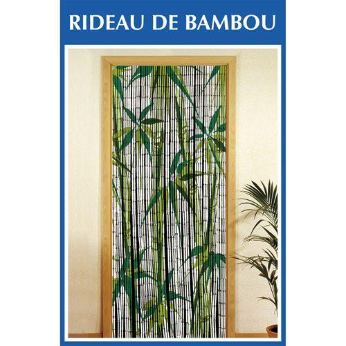 Wenko Rideau de porte Bambou Bamboo Blanc pas cher Achat
