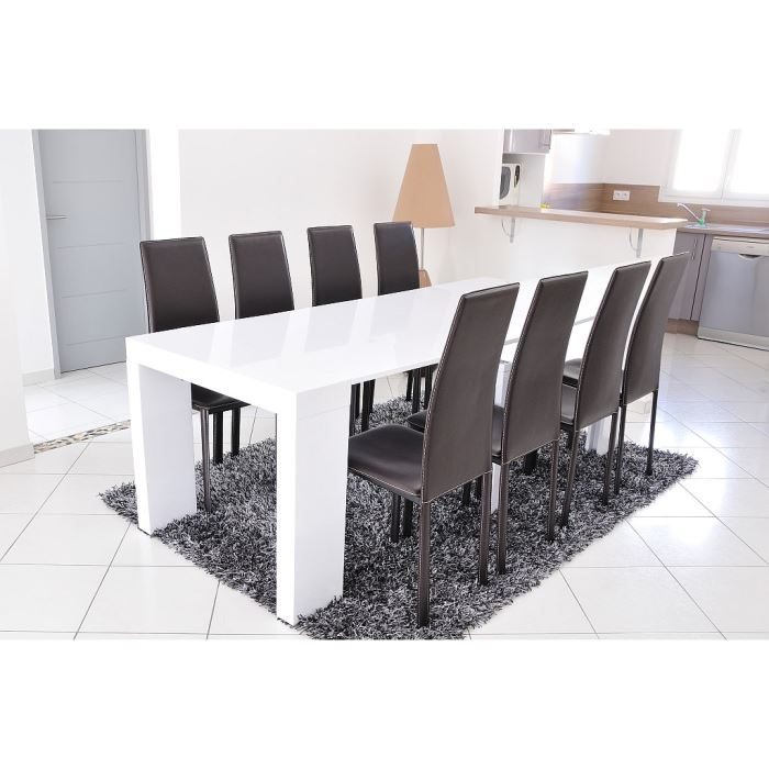 Chaise table salle a manger topiwall - Table console extensible blanche ...