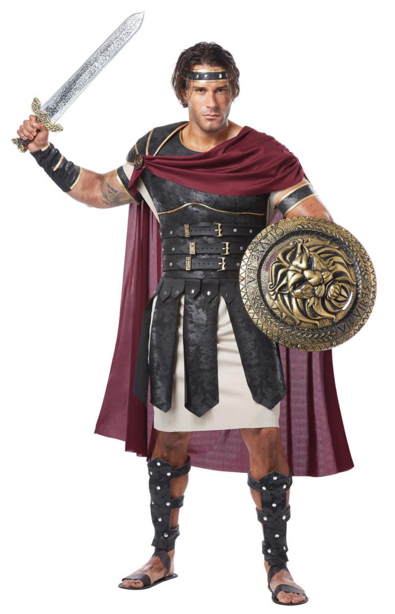 Romain Costume Déguisement Hommes Spartiate Guerrier Centurion