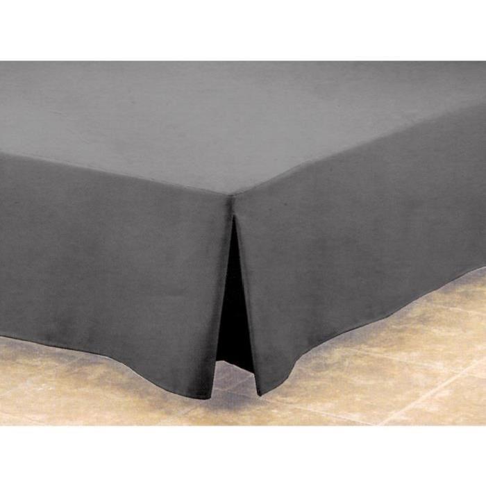 Cache sommier 160×200 cm LINEHI granit Achat / Vente cache sommier
