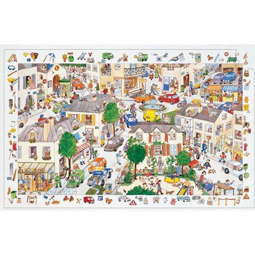 Puzzle 100 Pièces Poster Et Jeu D'observation : La Ville