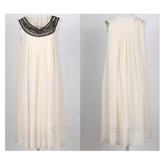 MOONAR@ Grossesse vêtements décontractés robe d Couleur abricot
