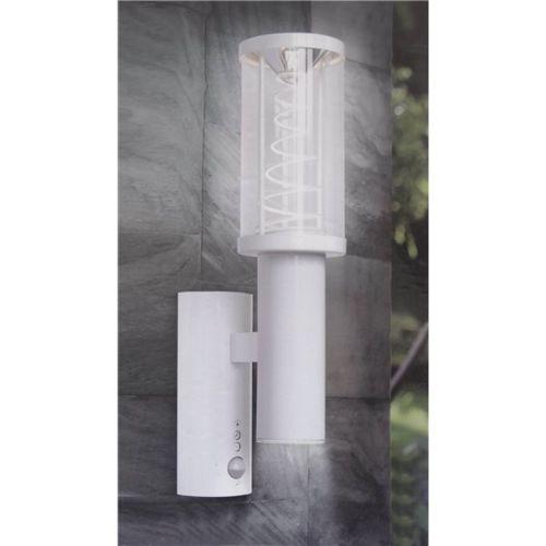 Applique exterieur murale Blanche Lampe de jardin Ip44 en acier