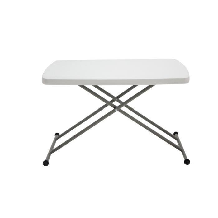 Table basse transformable relevable blanchePric choc pour cette table