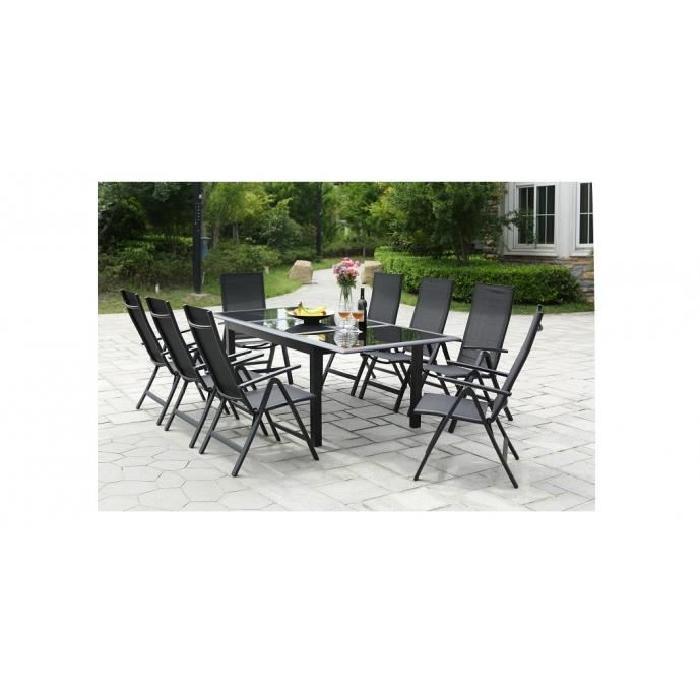 : salon de jardin aluminium 8 places Achat / Vente salon de jardin