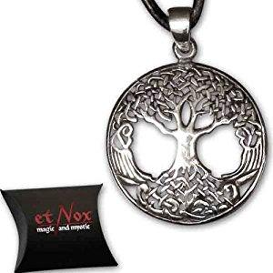 Arbre de vie celtique pendentif amulette en argent de etNox