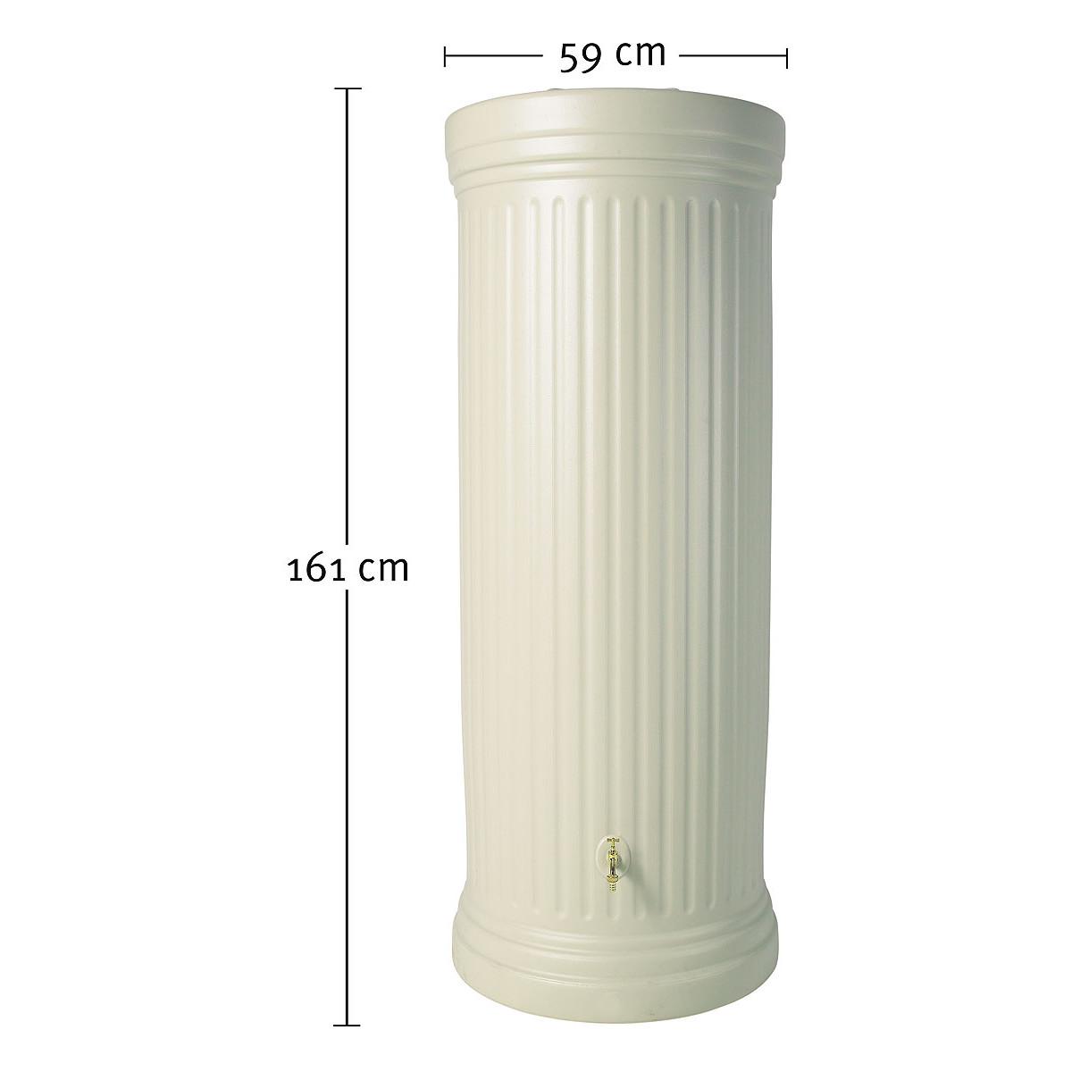 Cuve à eau colonne romaine 330L Kit complet Coloris sable à prix