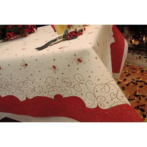 style 7m x 1m40 Nappes en papier non tissé, aspect tissu, décor de