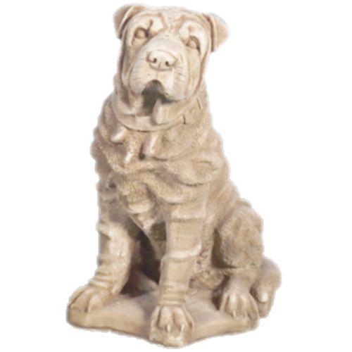 Deco Granit Statue chien en pierre reconstituée pas cher Achat