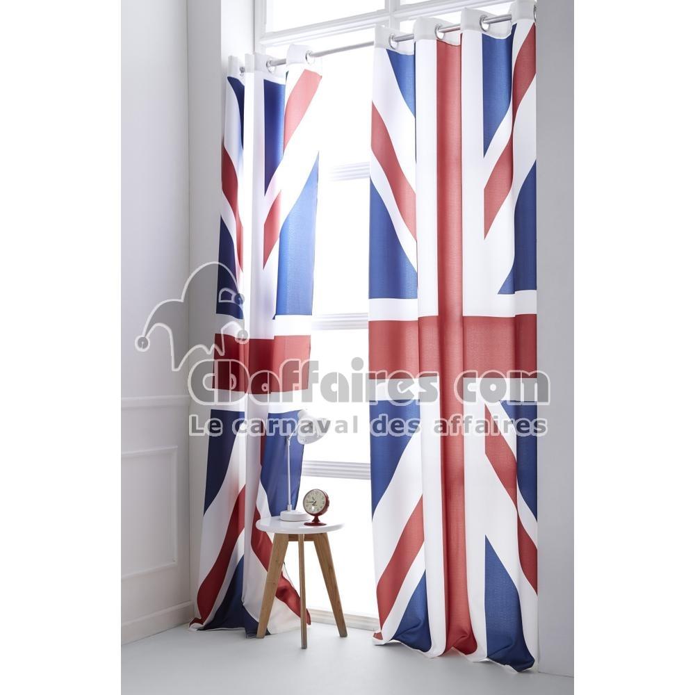 Rideau PRÊT À Poser 140×240 CM Union Jack Drapeau