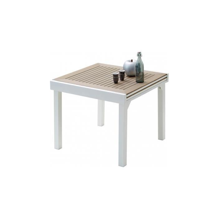aluminium blanc et polywood L90 Achat / Vente table de jardin Table