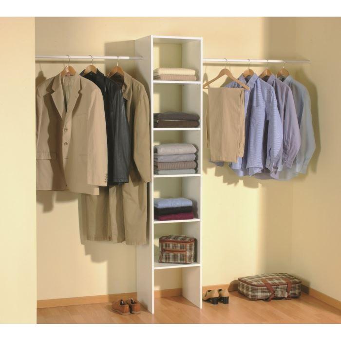 skirt kit placard extensible 140/240cm blanc Achat / Vente dressing
