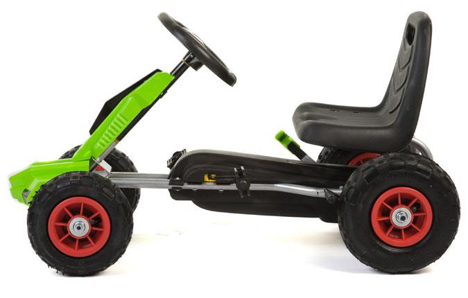 Go Kart Vert À Pédales Avec Roues En Caoutchouc F648 1