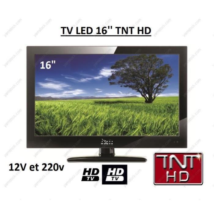 Télévision tv HD 16 POUCES pour camping car / fourgon / camion