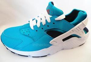 Nike air huarache gs bleu blanc juniors pour femme filles