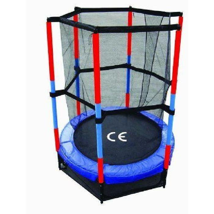 TRAMPOLINE 1M40 + FILET DE PROTECTION TRAMPOLINE DIAMÈTRE 1M40